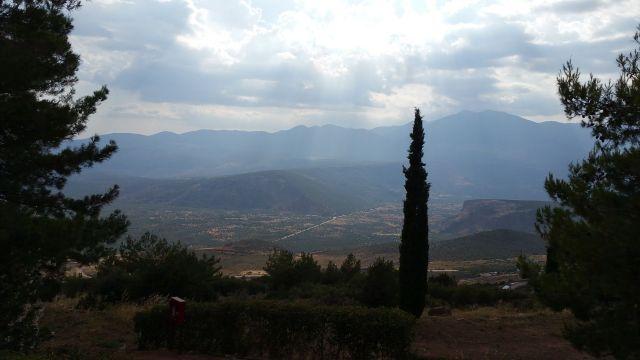 La vue depuis le camping Apollon - Delphes