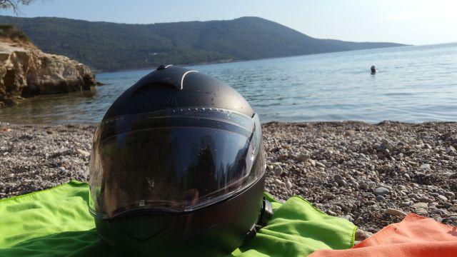 Des motards à la plage