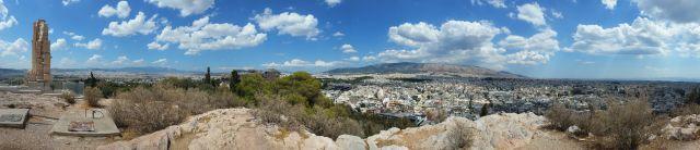 Vue sur Athènes depuis la colline de Philopappou