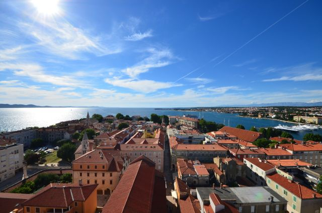 Vue sur Zadar depuis le campanile de la Cathédrale Sainte-Anastasie - Zadar
