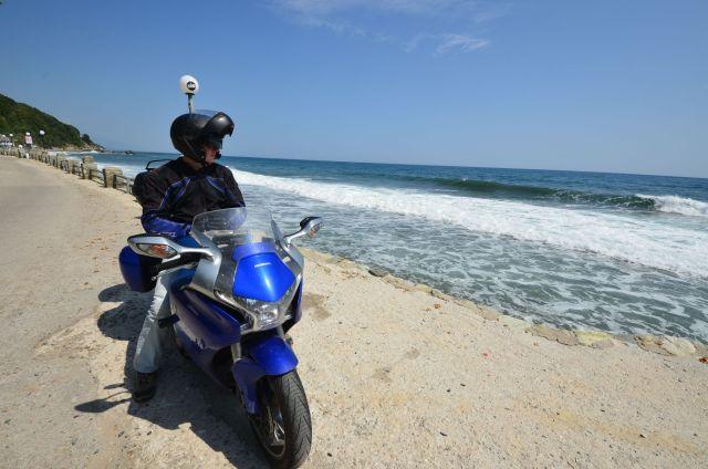 Fred devant la mer Egée - Grèce