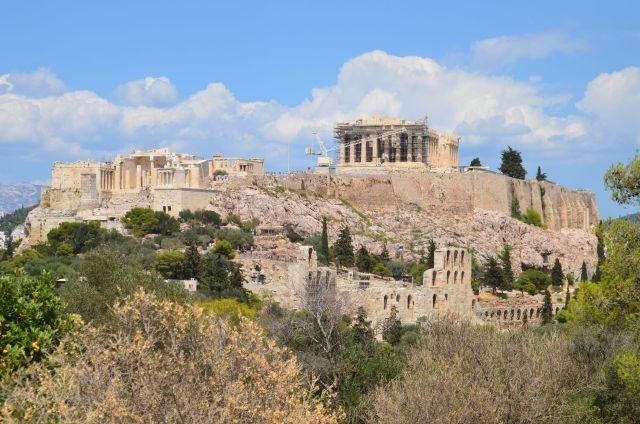 Vue sur l'Acropole depuis la colline de Philopappou - Athènes