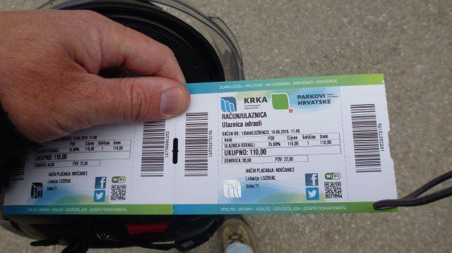 Billet d'entrée pour le parc national de Krka - Croatie