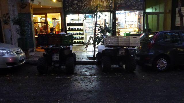 Des quads pour la livraison à Athènes