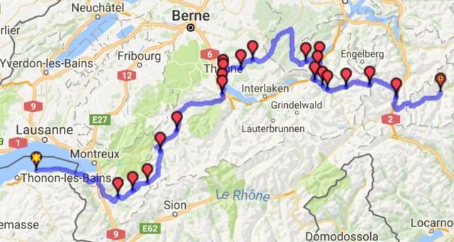 Itinéraire Evian - Disentis (Jour 3)