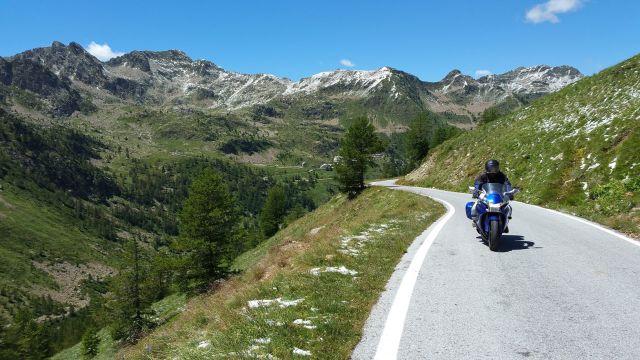 Fred dans l'ascension du col de la Lombarde (Italie)