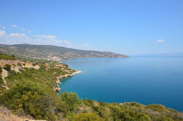 Route entre Agios Andréas et Léonidion - Grèce
