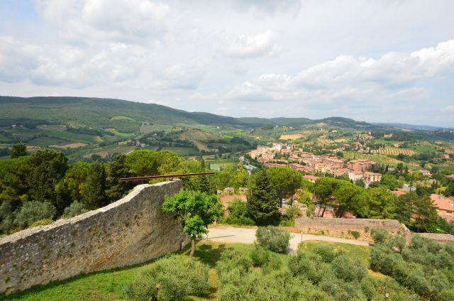 Vue depuis la rocca di Montestaffoli - San Gimignano