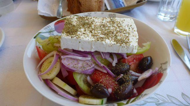 """Salade grecque du Ψαροταβέρνα """"Βουλιαγμένη"""""""