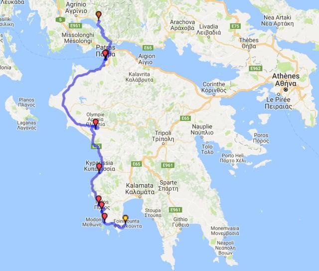 Itinéraire du jour 26 - Coron - Thermos