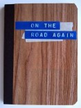 On the Road Again Travel Journal with wood-look cover