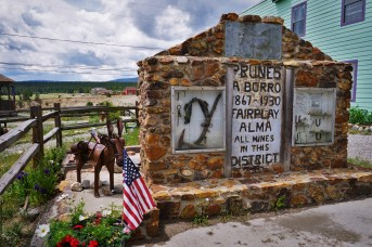 Grave site of Prunes the Burro in Fairplay CO