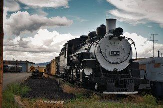 Engine 495 of Cumbres & Toltec train