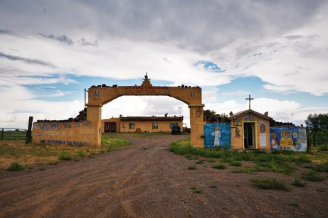 roadside chapel with grafitti