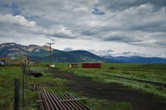 old train yard in high mountain valley