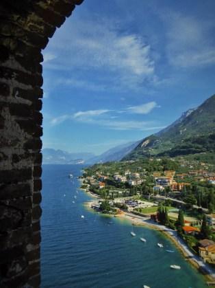 Lake Garda from Castle window
