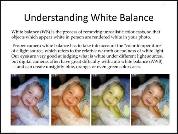 WHITE BALANCE DESCRIPTION FOR PHOTO BASICS
