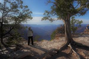 woman photograping the Grand Canyon