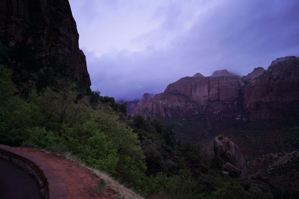 Clouds over Zion National Park
