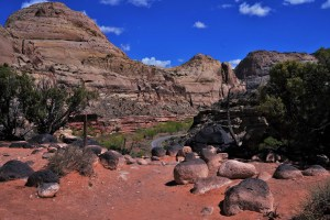 Sandstone Mountains at Capitol Reef National Park