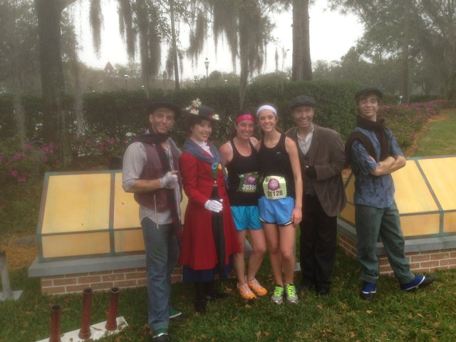 Mary Poppins at Princess Half Marathon
