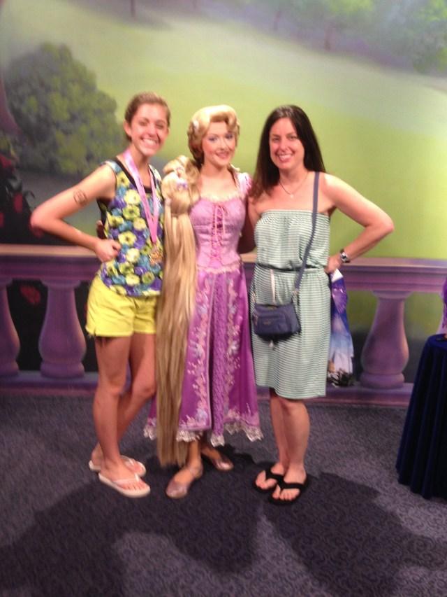 Disney Princess Half Marathon Meeting Rapunzel at Magic Kingdom