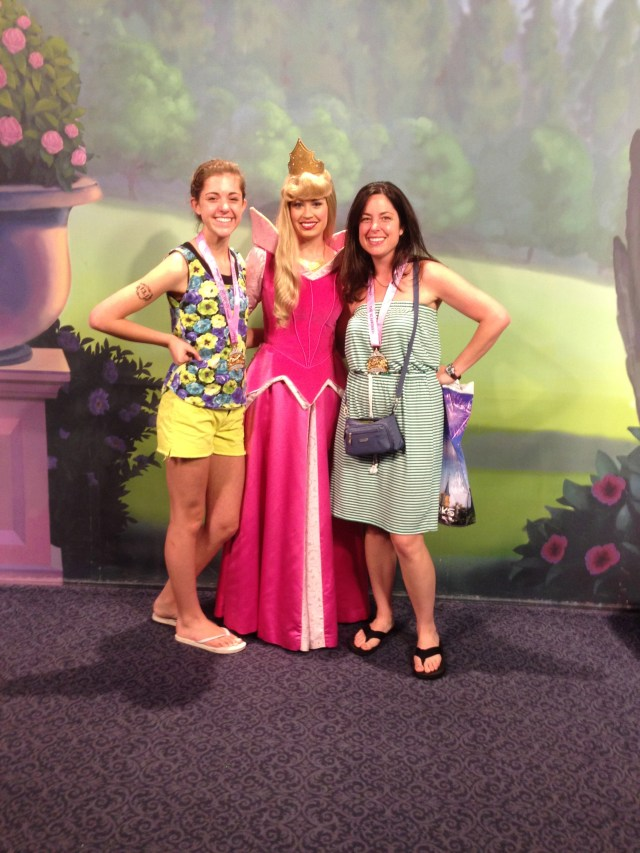 Disney Princess Half Marathon  Meeting Aurora at Magic Kingdom