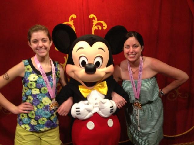 Disney Princess Half Marathon Meeting Mickey Mouse at Magic Kingdom