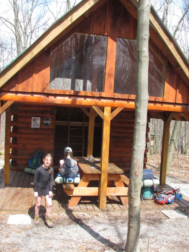 Backpacking with kids New Ensign Cowell Shelter on the Appalachian Trail