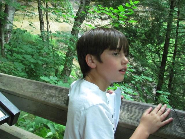 Garrett At Munising Falls, Pictured Rocks National Lakeshore