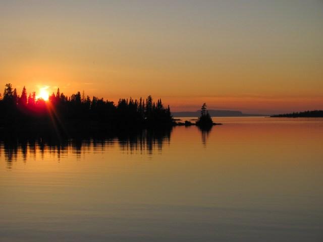 Sunset over Lane Cove, Isle Royale National Park