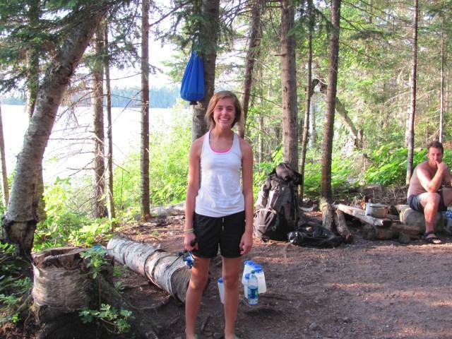 Naomi at Lane Cove in Isle Royale National Park