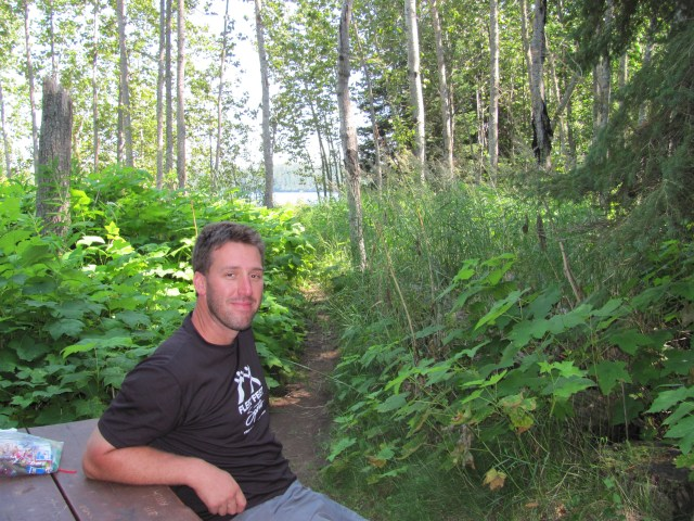 Dave at Daisy Farm in Isle Royale National Park