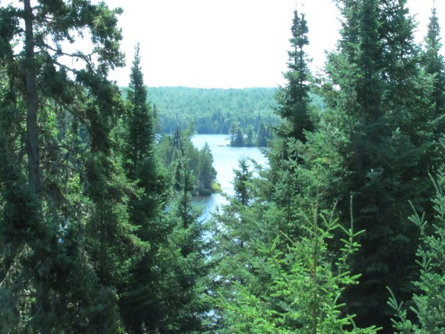 View of Lake Richie From the Indian Portage Trail in Isle Royale National Park