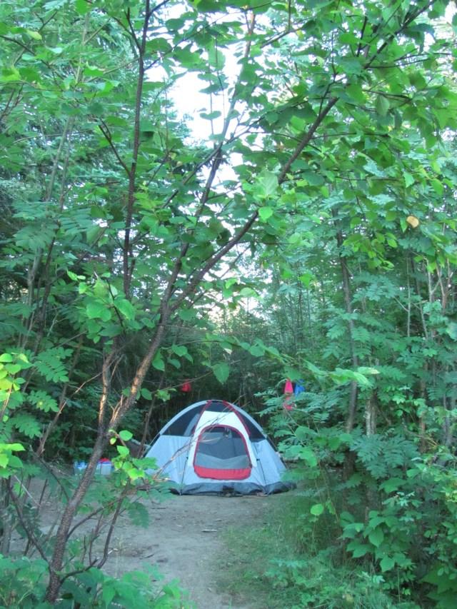 Camp at West Chickenbone Lake