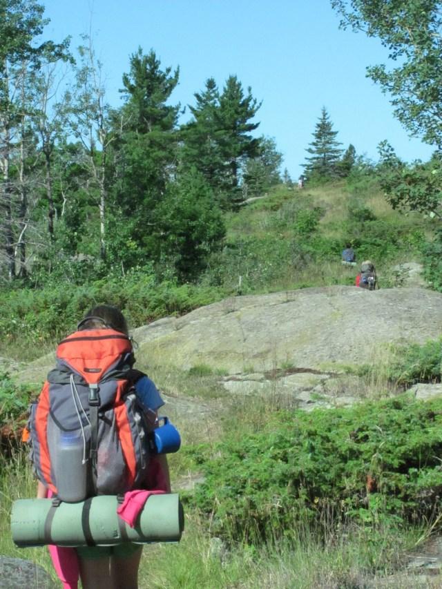 Garrett Hiking the Greenstone in Isle Royale