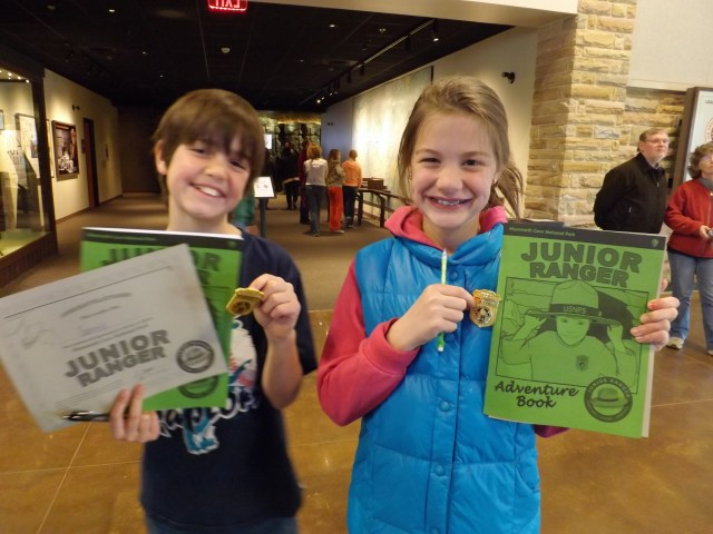 Maya and Garrett are Junior Rangers at Mammoth Cave National Park