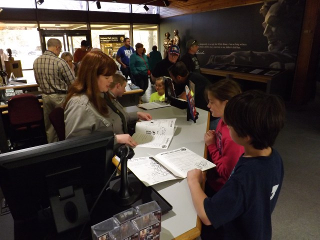 Earning the Junior Ranger Badges at Abraham Lincoln Birthplace National Historical Site