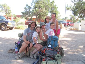 Grand Canyon Rim to Rim with kids: After- The Bright Angel Trailhead on the South Rim. We Loved Hiking the Grand Canyon!