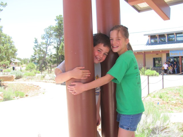 Grand Canyon Rim to Rim with kids: Goofing Off in Grand Canyon National Park