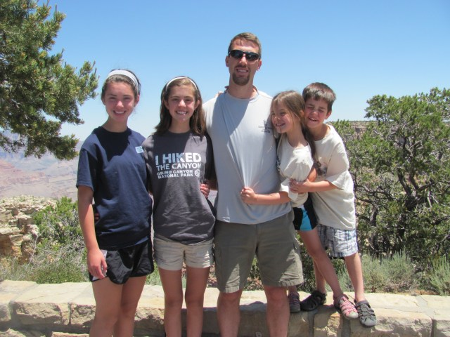 Grand Canyon Rim to Rim with kids: Daddy's Back!