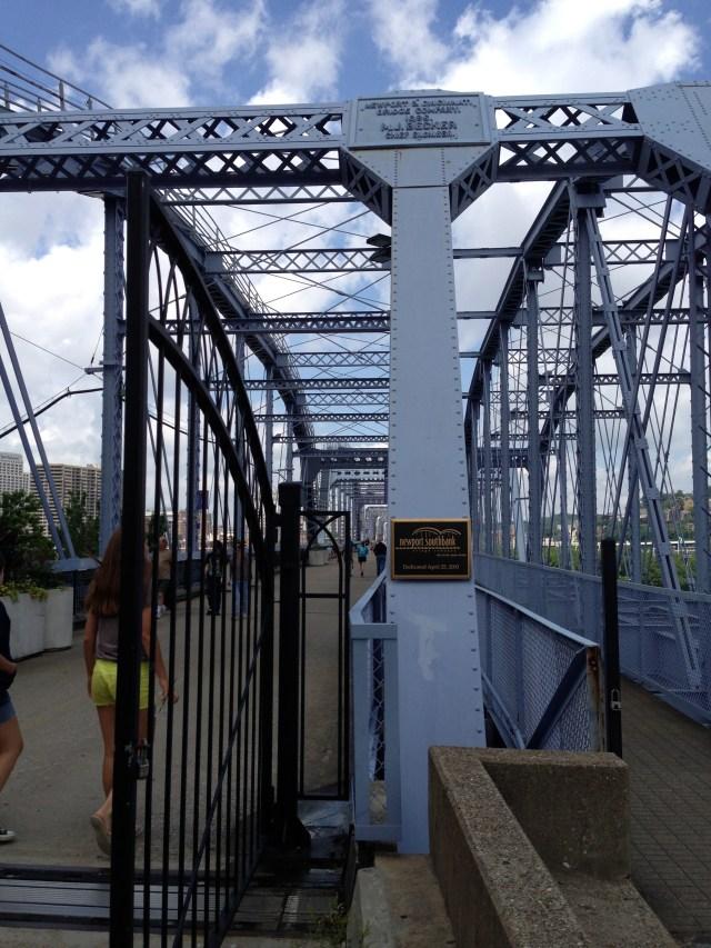 Crossing the Purple People Bridge