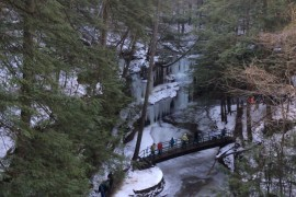 Ohio's Hocking Hills State Park Winter Hike