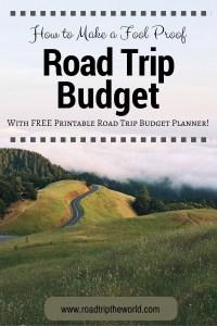 Free Printable Road Trip Budget Planner