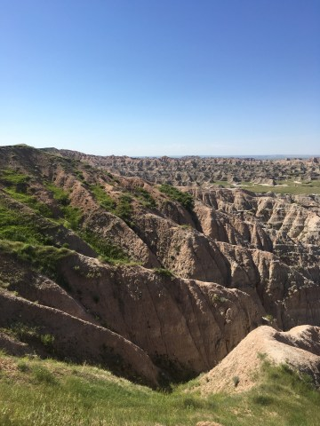 badlands national park in our adventure van
