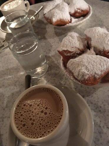 Cafe Du Monde Beignets and Cafe Au Lait