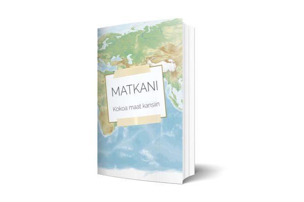 Matkani Kokoa maat kansiin kirja valkoisella taustalla.
