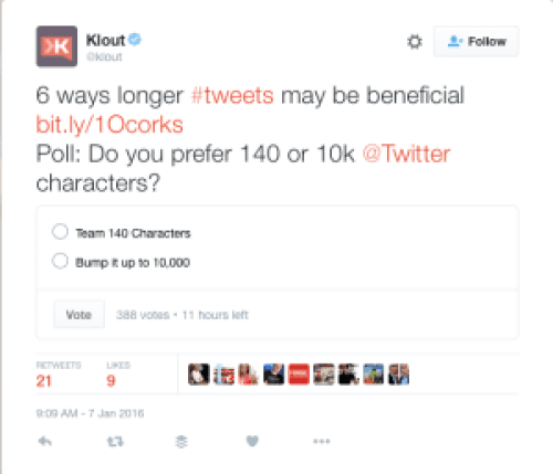 Klout poll greatest community builder