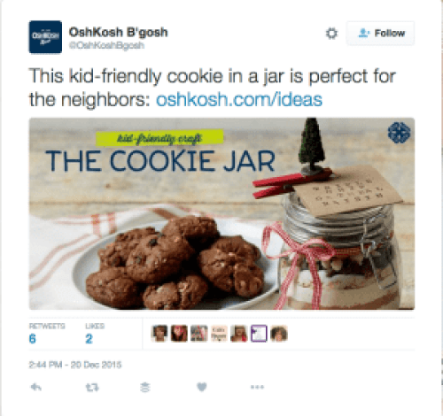 "OshKosh B'gosh ""The Cookie Jar"" blog post greatest community builder"