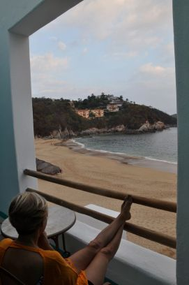 All the rooms at the Camino Real Zaashila face the water; ours was literally beachfront. Lovely mornings spent on this balcony with coffee or a delicious room service breakfast. Credit: Dan Barnes, December 2016